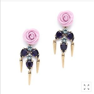 J Crew Roses and Thorns earrings
